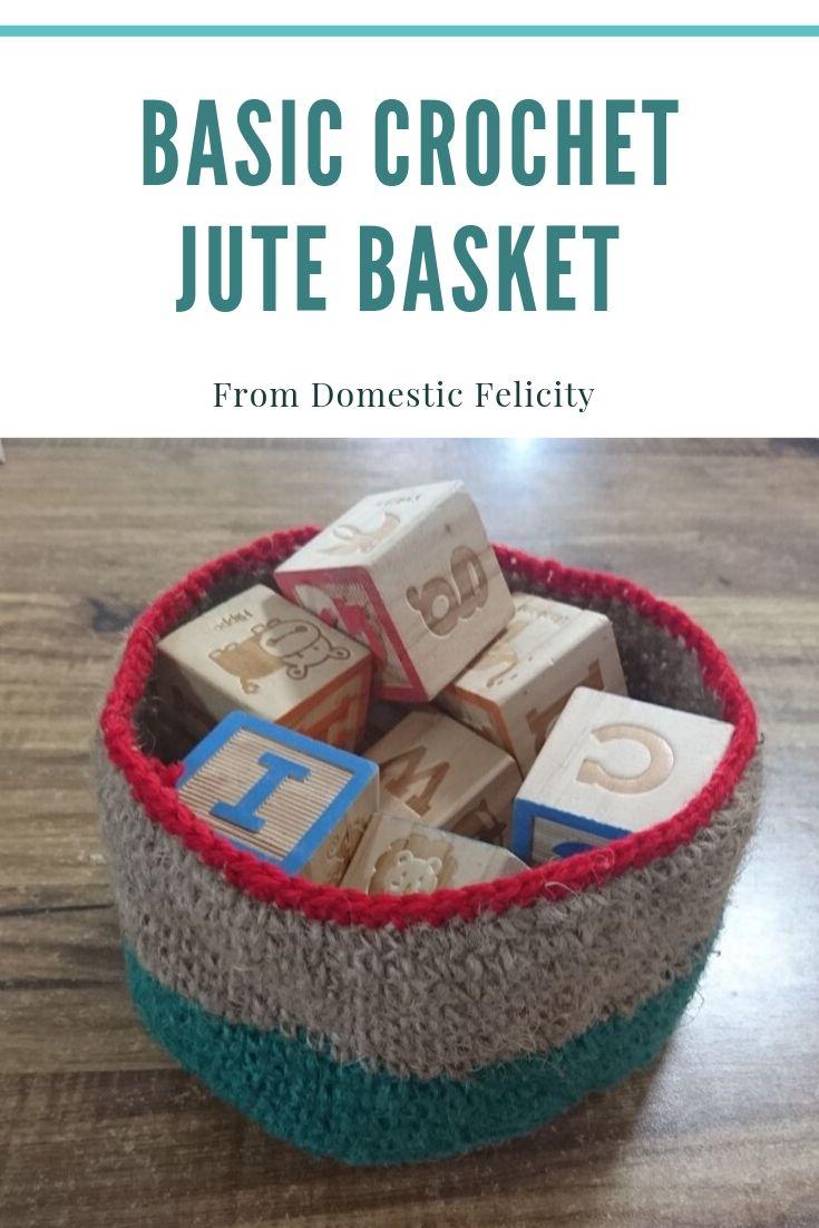 Basic Rustic Jute Basket